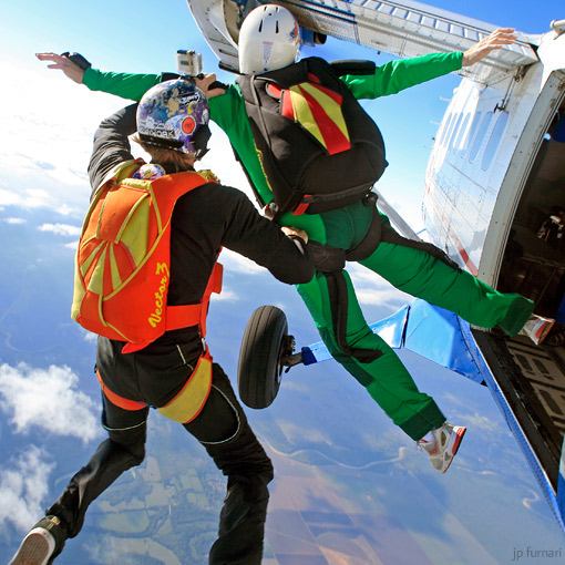 Skydiver Training Program exit